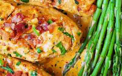 Chicken Breasts and Bacon with Sun-Dried Tomato Cream Sauce